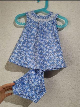 trueque Vestido Culotte 3/6 meses