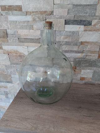 botella ,garrafa, botijo de cristal grande 40 cm