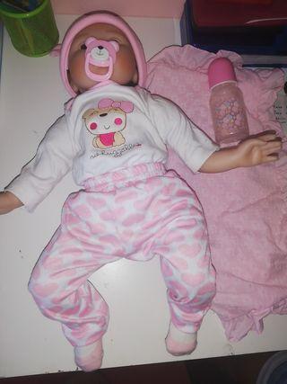 muñeco reborn niña 50cm