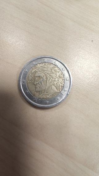 Moneda Italia Dante 2002 con error