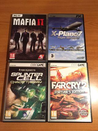 Far Cry 2, Splinter Cell, Mafia II y X-Plane PC