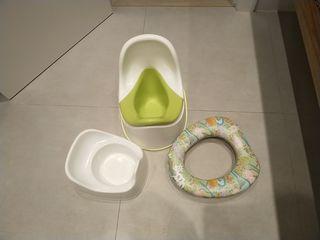 Asiento reductor infantil WC, orinal Ikea y otro.