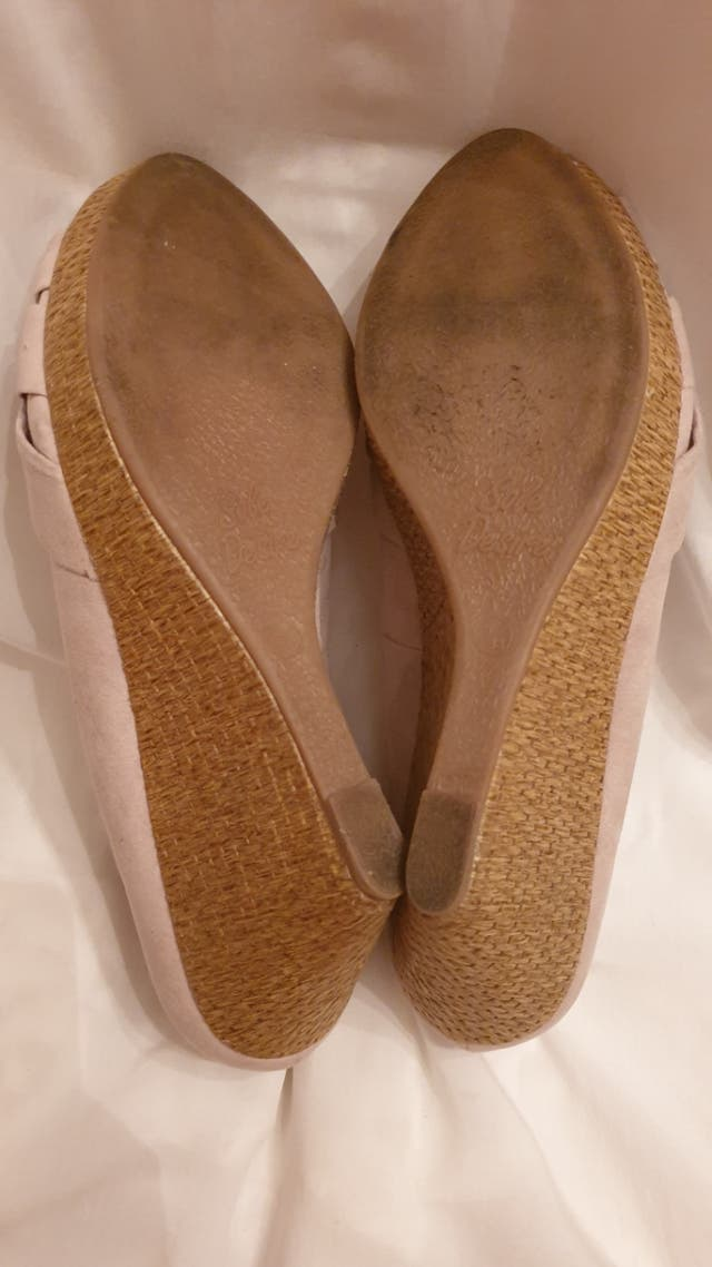 zapatos cuña pep toe