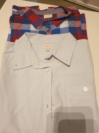 Camisas Niña Gocco y Zara