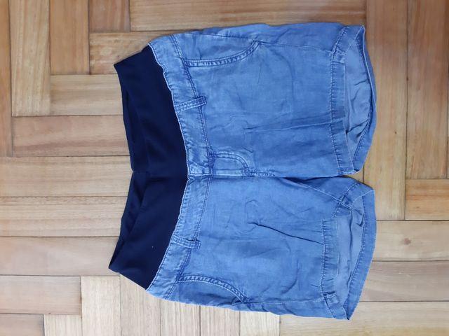 Pantalon corto H&M embarazada premamá Talla S.