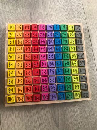 Juego para aprender las tablas