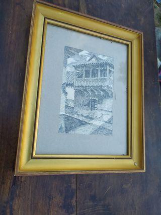 cuadro dibujo de una casa