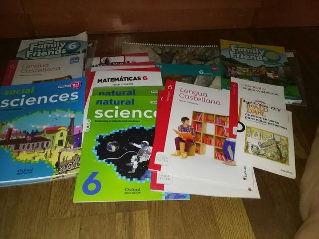 vendo todos los libros del sexto