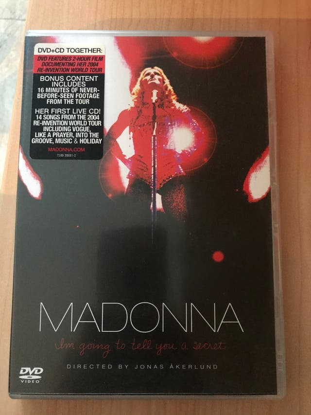 DVD + CD Madonna I'm going to tell you a secret