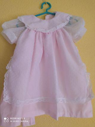 vestido niña, dos capas