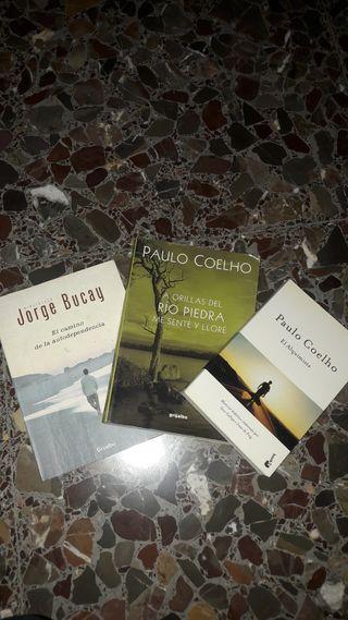 Libros Paulo Coelho y Jorge Bucay