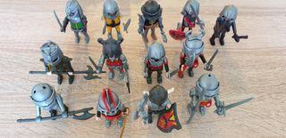 13 soldados medievales plymobil