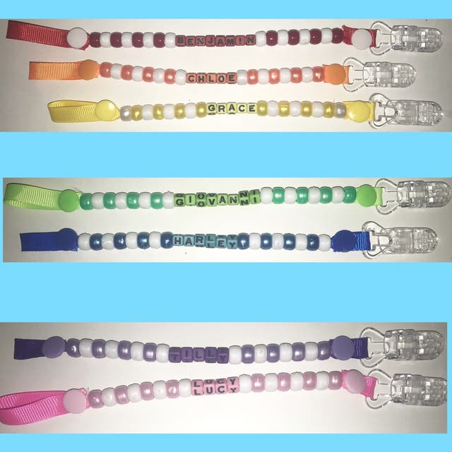 Personalised Dummy Clips Made to Order