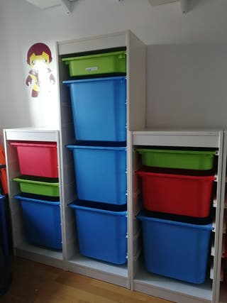 Estanterías almacenaje juguetes TROFAST IKEA