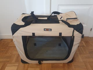 NUEVO - Transportín para perro talla L color beige