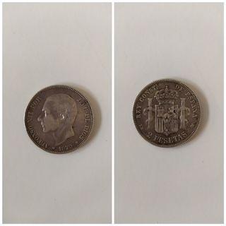 Moneda de 2 pesetas de 1879