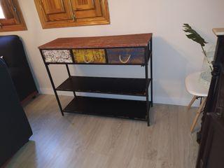 mueble consola entrada industrial
