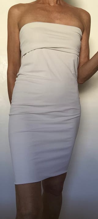 robe blanche tubulaire jersey blanc 36-38-40