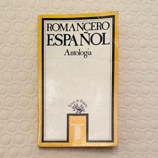 Libro Antología Romancero español