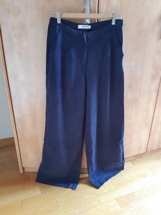 Pantalon azul tipo palazzo