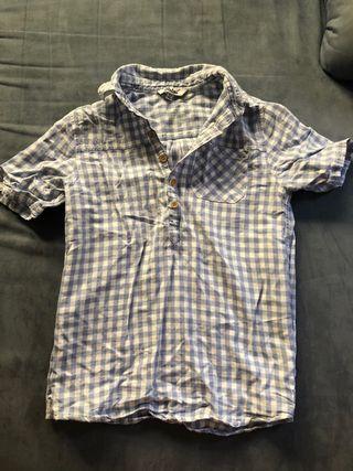 Camisa niño de cuadros de Rebel