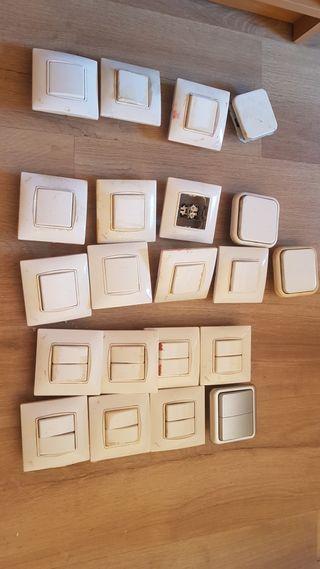 Interruptores simple, conmutadores simples y doble