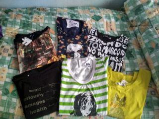 Lote de 6 camisetas L