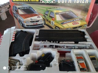 2 Scalextric y 20 coches