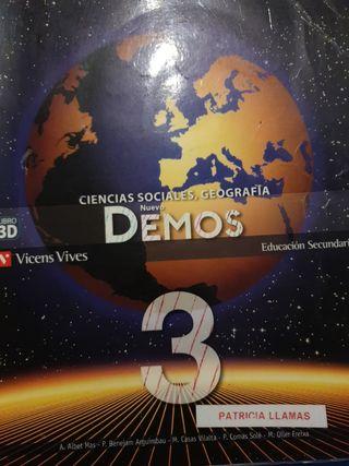 Demos 3 ciencias sociales, geografía Vicens vives