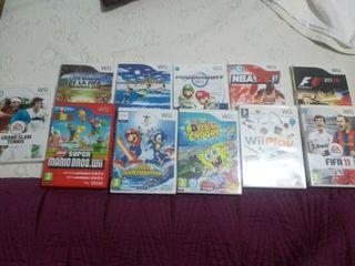 Nintendo Wii juegos y mandos con volantes