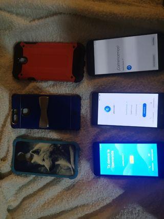 Pack de 3 móviles con cajas originales y fundas