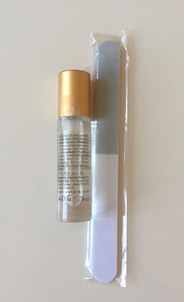Huile pour cuticule 10 ml et polissoir neufs