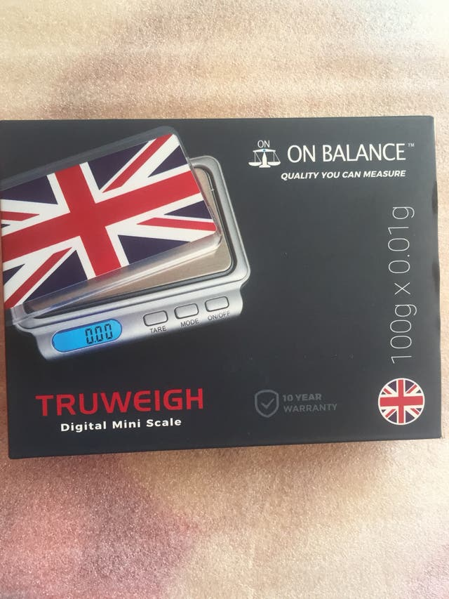 Digital mini scale. Truweigh .. 100g X 0.01g .