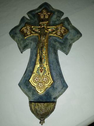 Crucifijo benditera siglo XIX