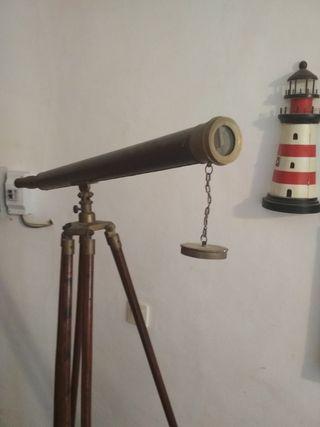telescopio barco antiguo