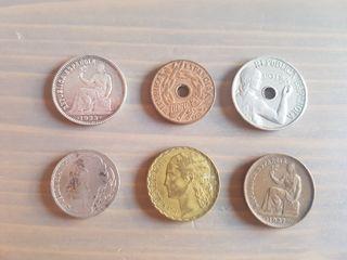 lote 6 monedas Segunda Republica Española