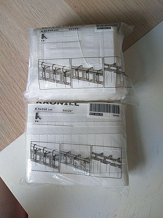 cinta blanca para fruncir cortinas 6 metros