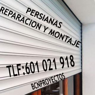 persianas, reparación y montaje