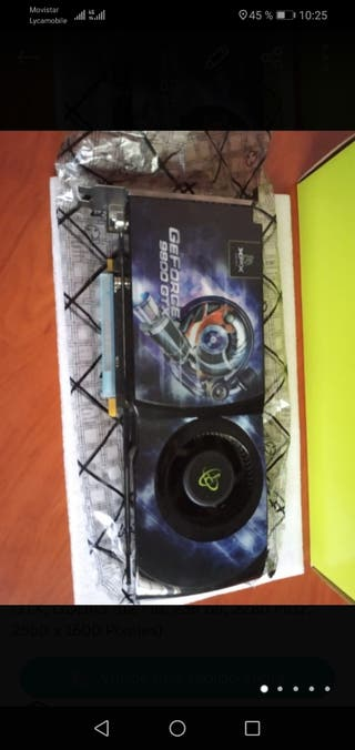 Tarjeta gráfica GeForce 9800 GTX+ casi sin uso