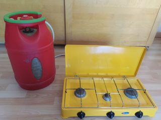 Gas Portátil con regulator y bombona