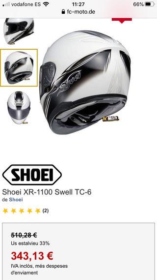 Casco SHOEI XR-1100 SWELL