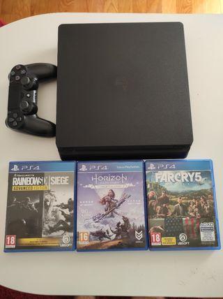 PS4 + Mando + 3 juegos