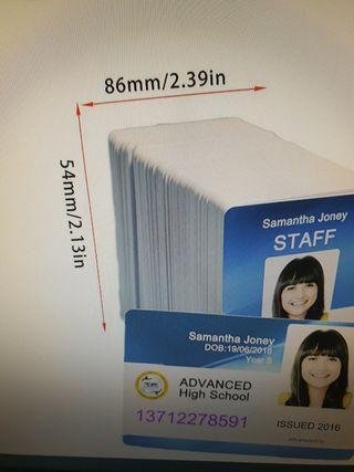 230 Tarjetas PVC inyeccion tinta blancas