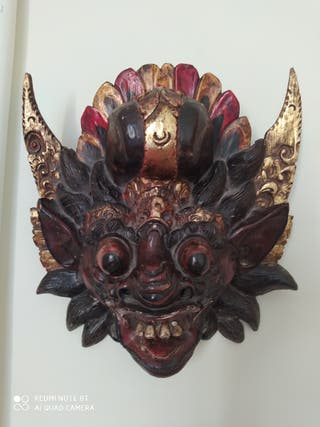 Máscaras policromadas thailandesas (dos)