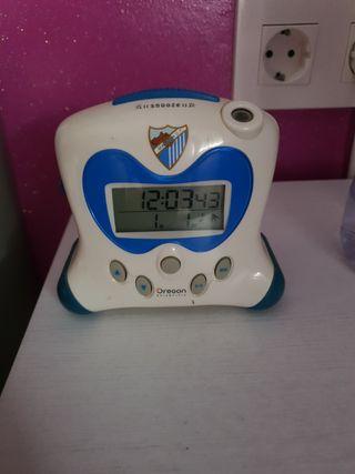Reloj despertador Málaga CF