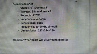Dos altavoces Wharfedale WH-2