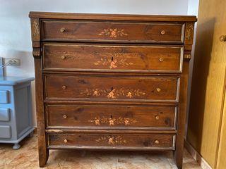Cómoda antigua de madera s.XIX