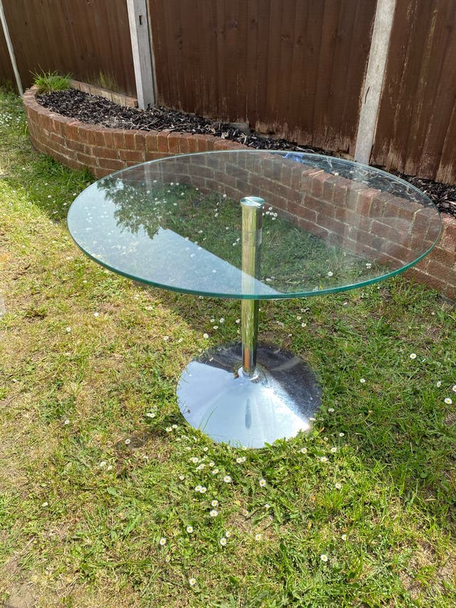 Glass table dinner/ lounge table