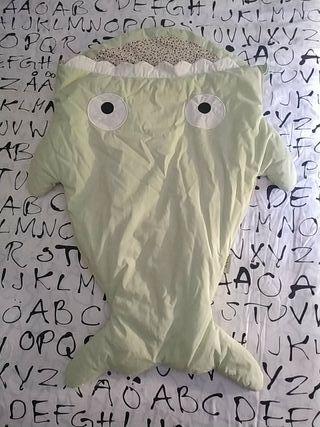 Saco bebé tiburón/pez