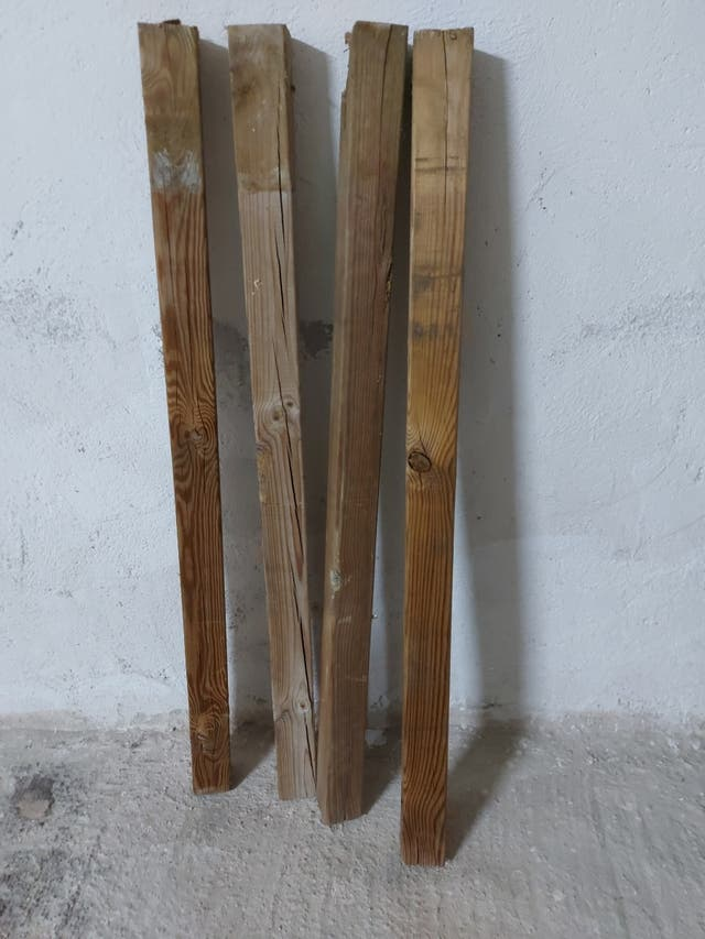 Valla de madera de jardín.